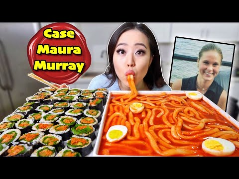 Korean Spicy Rice Cake Long NOODLES! 떡볶이 + Nuclear Kimbap MUKBANG | Eating Show