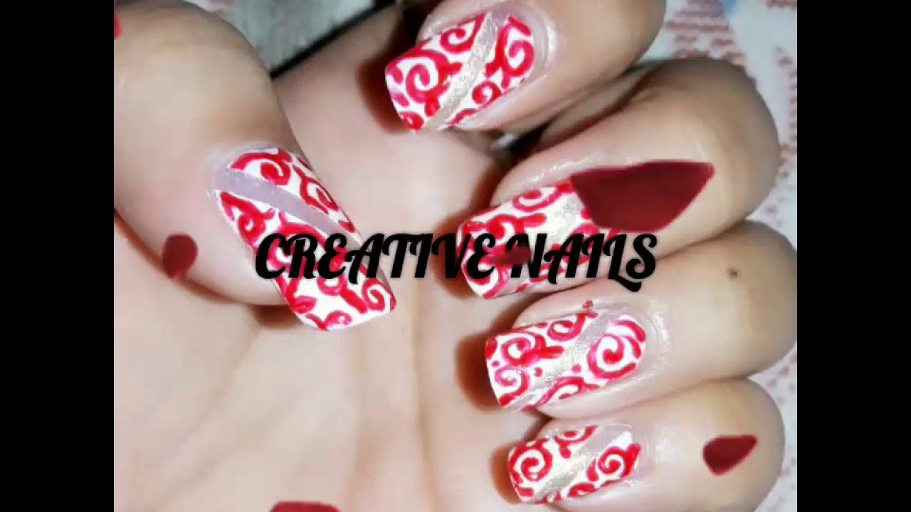Nail Art On Fabric Design Using Striper Brush And Adhesive Tape
