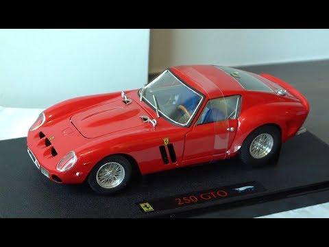 Unboxing 1 18 Hot Wheels Elite Ferrari 250 Gto Youtube