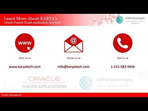KARYA Oracle Fusion Cloud Applications