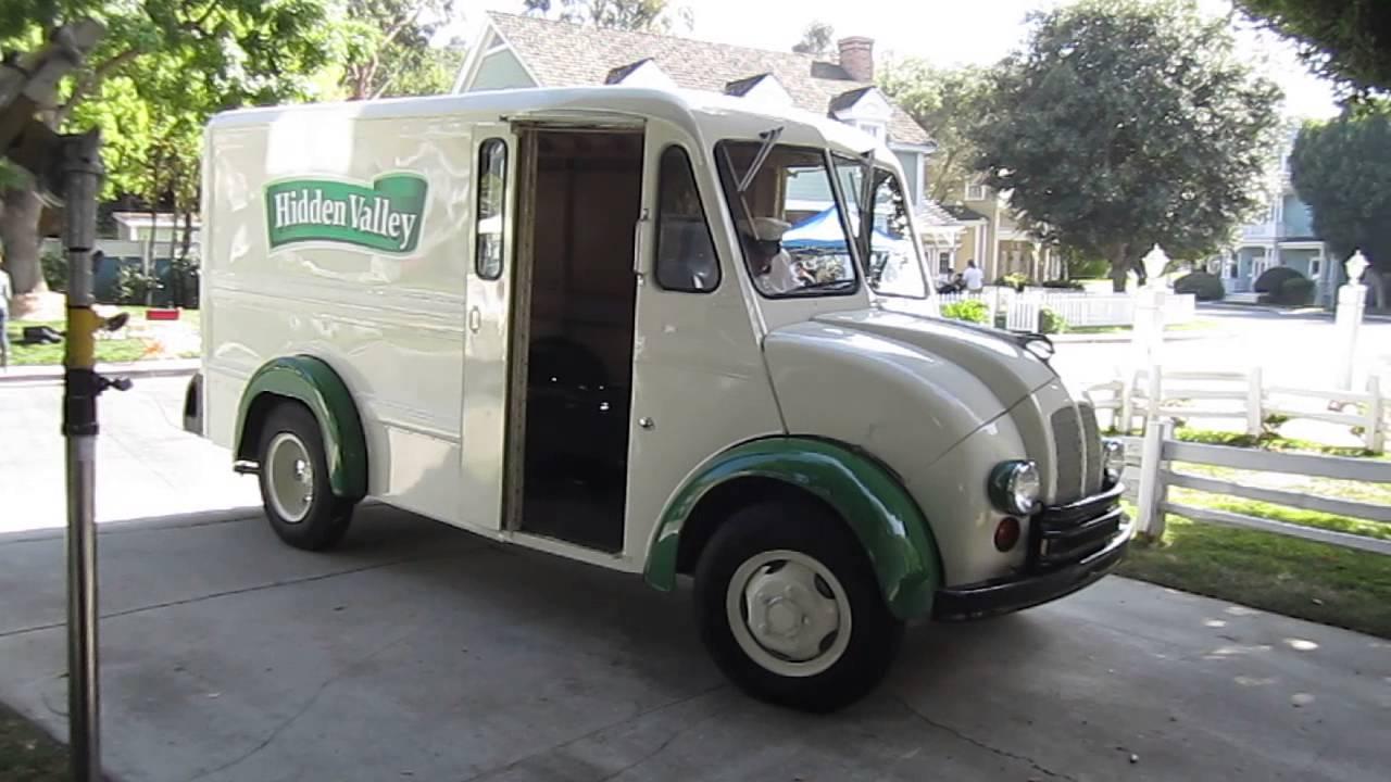 Vintage Divco Milk Truck on Wisteria Lane in Hidden Valley Ranch  Commercial, Universal Studios