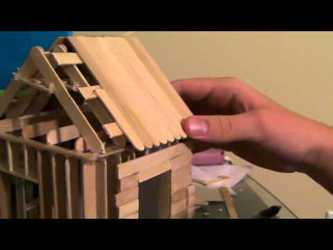 [5/6] How To Build a Popsicle Stick House - Roofing Part 2