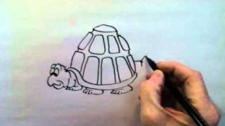 Bruce Langton - How to draw a cartoon Turtle www.BruceLangton.com