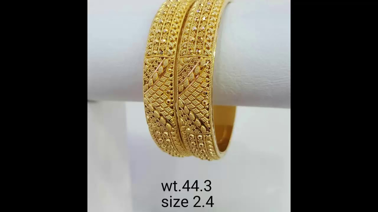 253bf19430d Latest Gold Bangles Designs With Weight And Price 2019