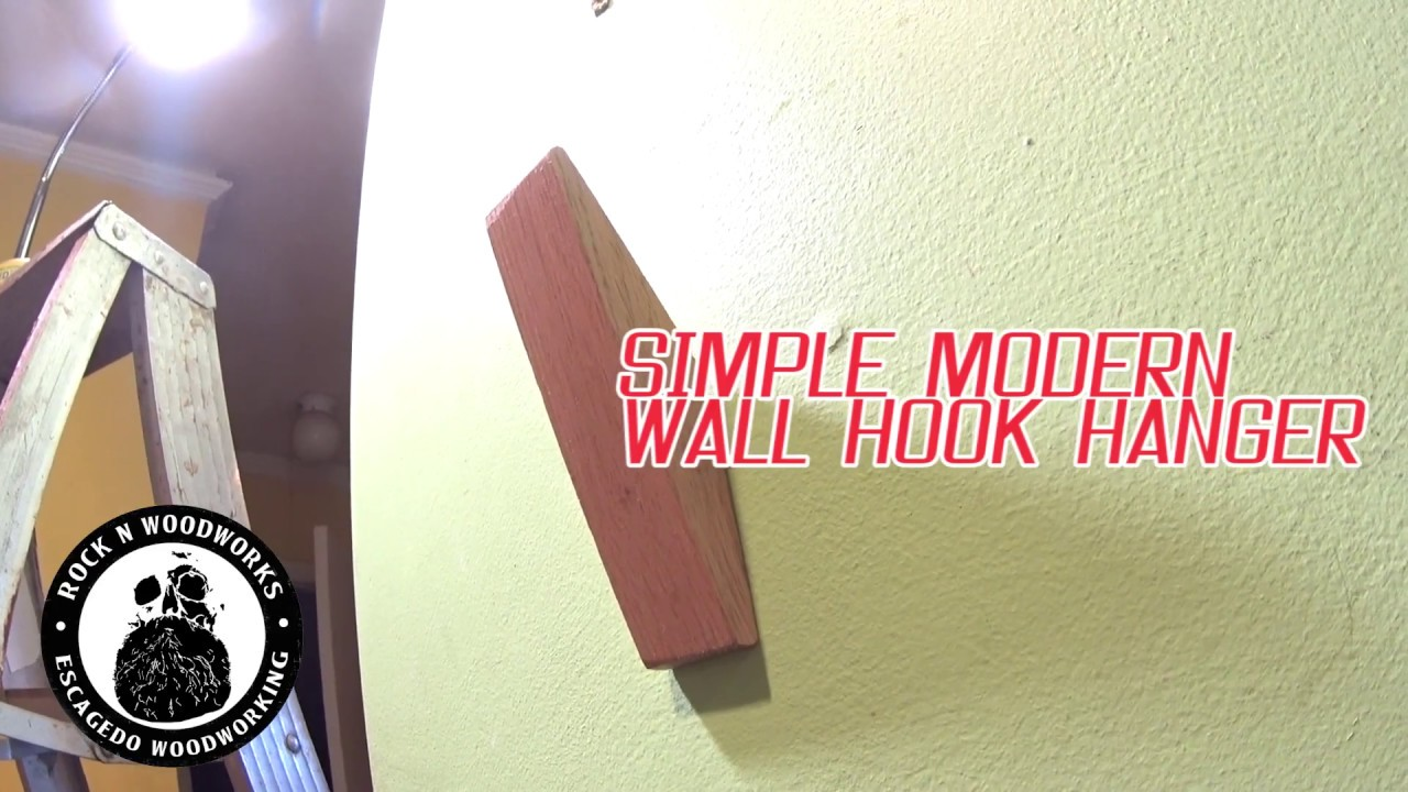 Simple modern wall hook hanger youtube
