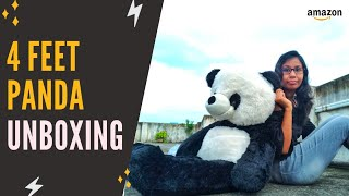 4 Feet Panda Soft Toy Unboxing Giant Panda Soft Toy Unboxing Best Valentine Gift For Girlfriend