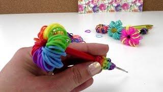 Loom Bands Stift Topper - Rainbow Loom Stift Deko selber machen Anleitung deutsch