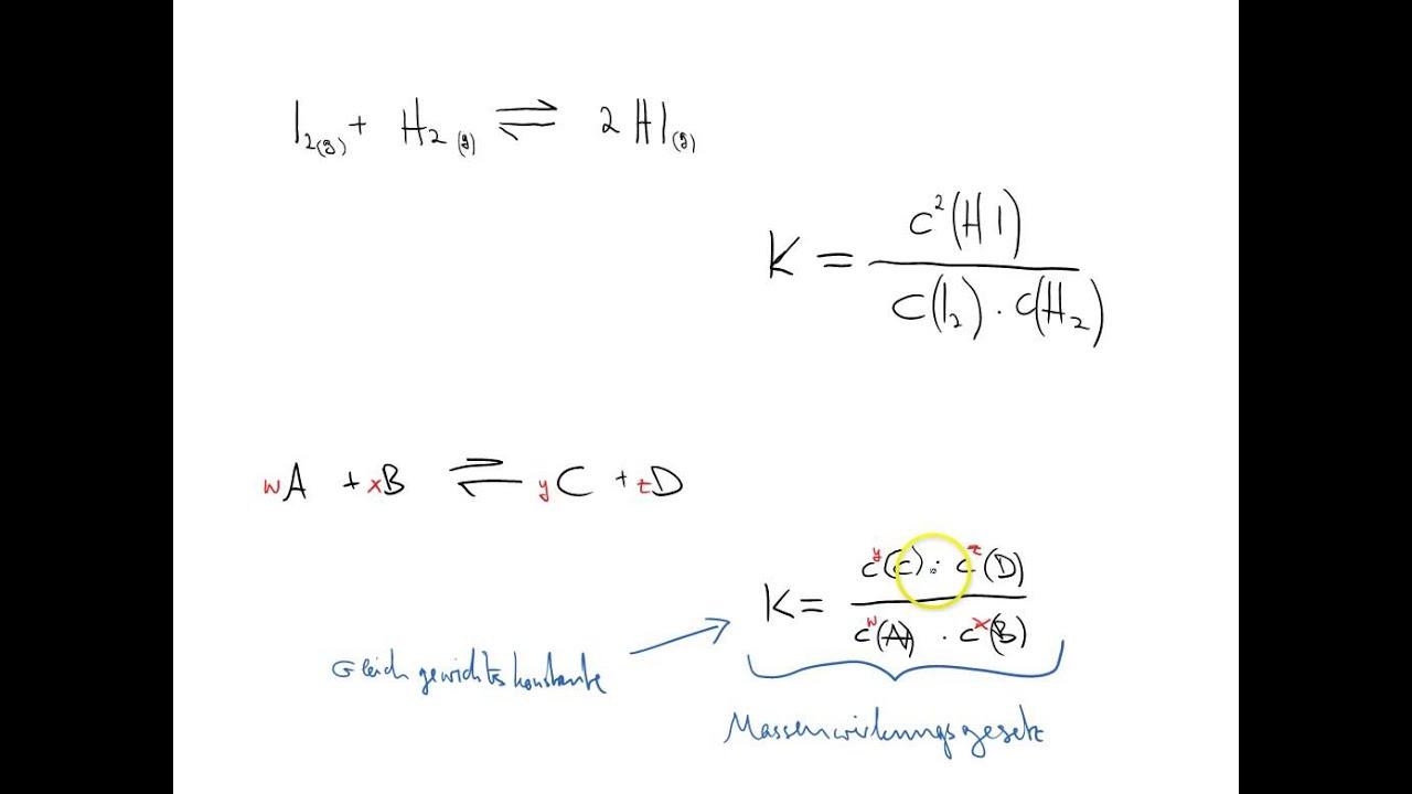 einfhrung in das massenwirkungsgesetz - Massenwirkungsgesetz Beispiel