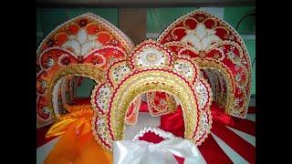 Кокошники женские для русских народных костюмов
