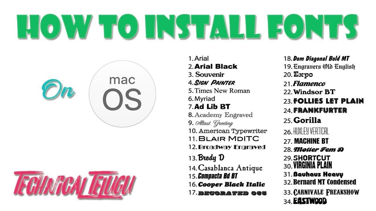 Install fonts on mac os in telugu technical telugu youtube install fonts on mac os in telugu technical telugu m4hsunfo