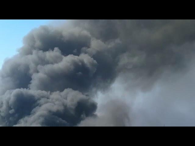 Se produce un Incendio en una nave Industrial en la Isla de El Hierro.