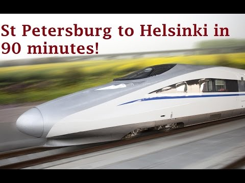 A proposed high speed rail line from Helsinki to St Petersburg