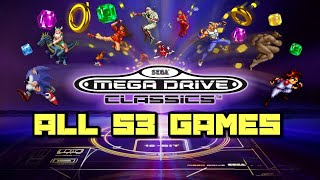 Sega Mega Drive/Genesis Classics Trailer PS4/Xbox One/Switch -All 53 Games Shown