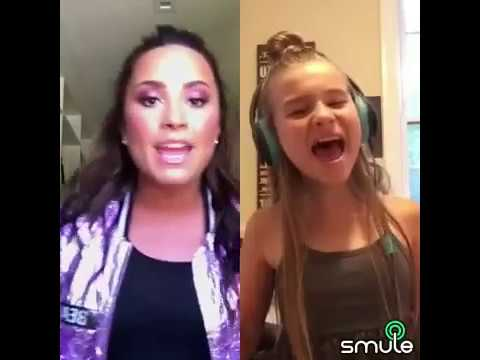 'Sorry Not Sorry' Smule Duet Sung By Demi Lovato & 10 Year Old Sienna Rose!!!