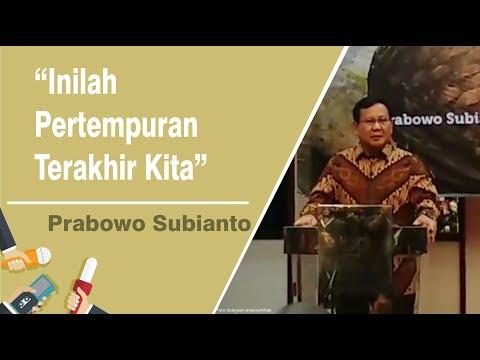 Dapat Dukungan dari 300 Purn Jendral TNI, Prabowo: Inilah Pertempuran Terakhir Kita