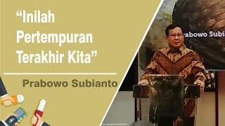Download Video Dapat Dukungan dari 300 Purn Jendral TNI, Prabowo: Inilah Pertempuran Terakhir Kita MP3 3GP MP4