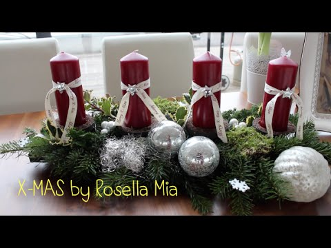 advents weihnachtsgesteck diy by rosella mia youtube. Black Bedroom Furniture Sets. Home Design Ideas
