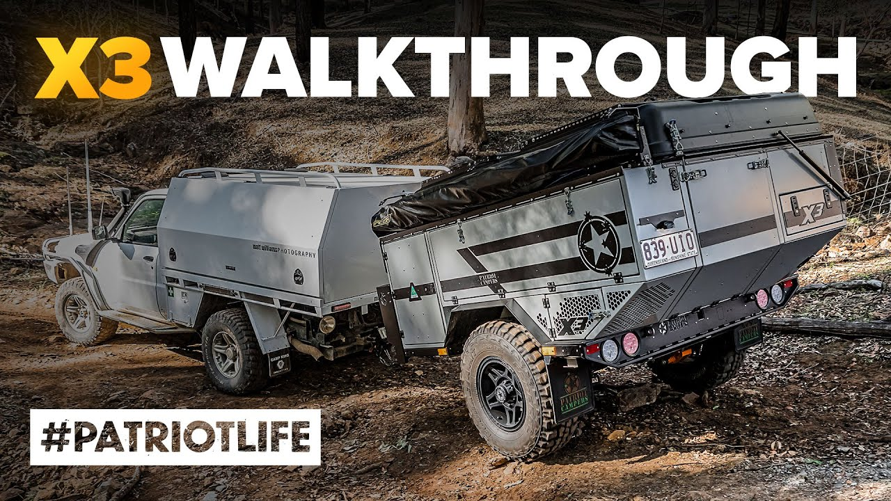 Patriot Campers X3 Walkthrough - Australian Offroad Camper Trailer of the Year 2020 WINNER