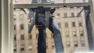 Nerves of Steel: Last strap hanging window washer in New York