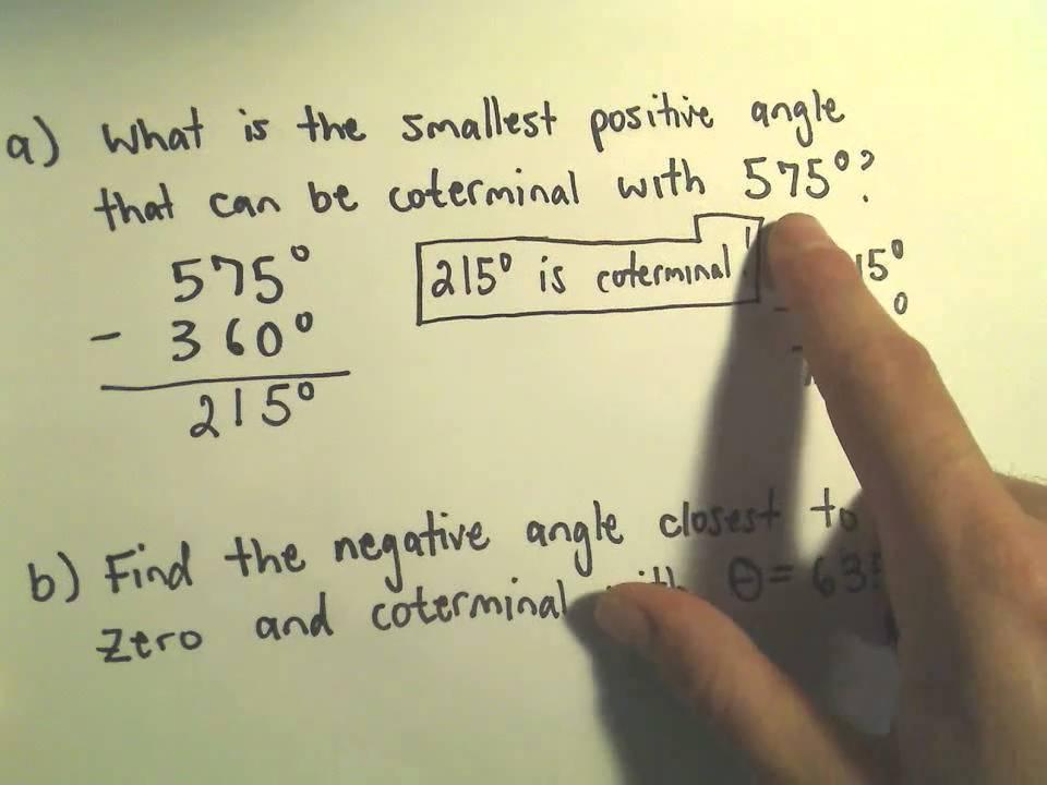Coterminal Angles - Example 3