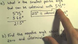Coterminal Angles - Example 3