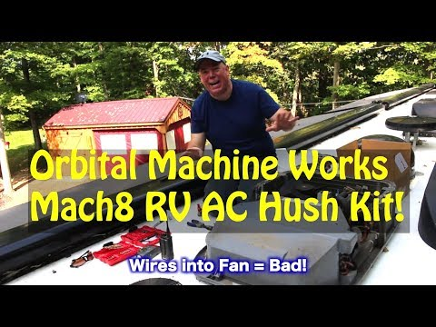 Mach 8 RV AC Hush Kit - Quite That Air-Conditioner Down! - YouTube