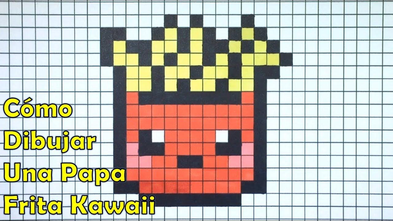 Cómo Dibujar Papas Fritas Kawaii En Pixel Art Tutorial Paso A Paso
