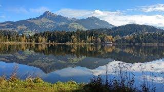 Wandern Tirol: Schwarzsee bei Kitzbühel mit Farb- Mediationsweg