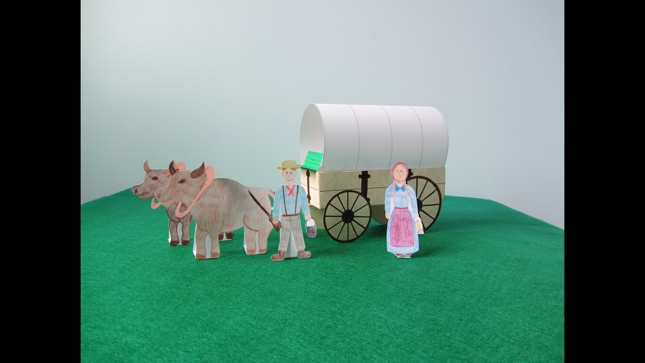 3D Covered Wagon Project - YouTube