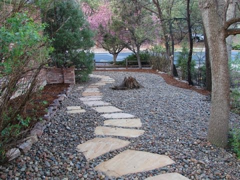 River rock landscaping designs youtube for Stone landscaping ideas