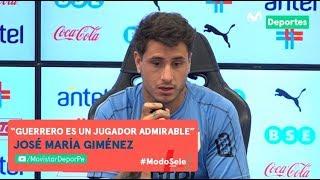 José María Giménez elogia a Paolo Guerrero previo al PERÚ vs URUGUAY | CONFERENCIA