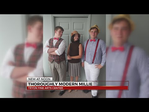 Thoroughly Modern Millie youth production at Tryon Fine Arts Center