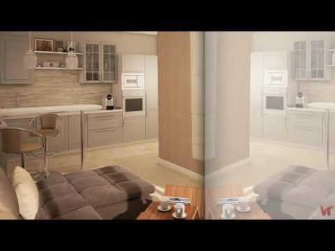 Дизайн трёхкомнатной квартиры площадью 105 кв. м в ЖК «Мельникова» для семейной пары с двумя детьми