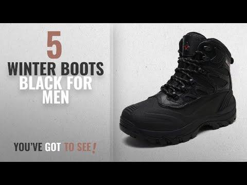 Top 10 Winter Boots Black [ Winter 2018 ]: arctiv8 Men's Nortiv8 161202-M Black Insulated Waterproof