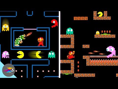 Pacman Vs Mario Vs Ghost Vs Bowser Full Myth Series