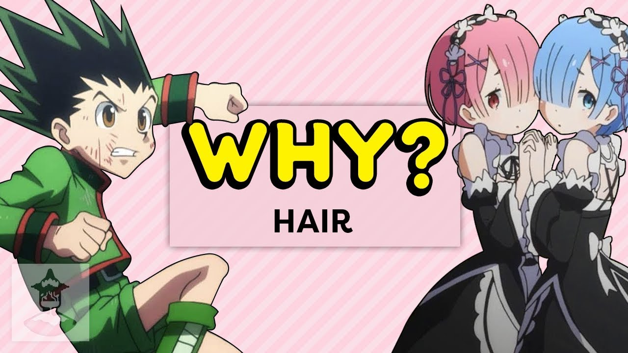 Why does anime hair look like this why anime get in the robot