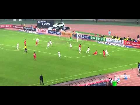 Crazy! Zheng Zhi(郑智) Amazing goal  China VS New Zealand 141114