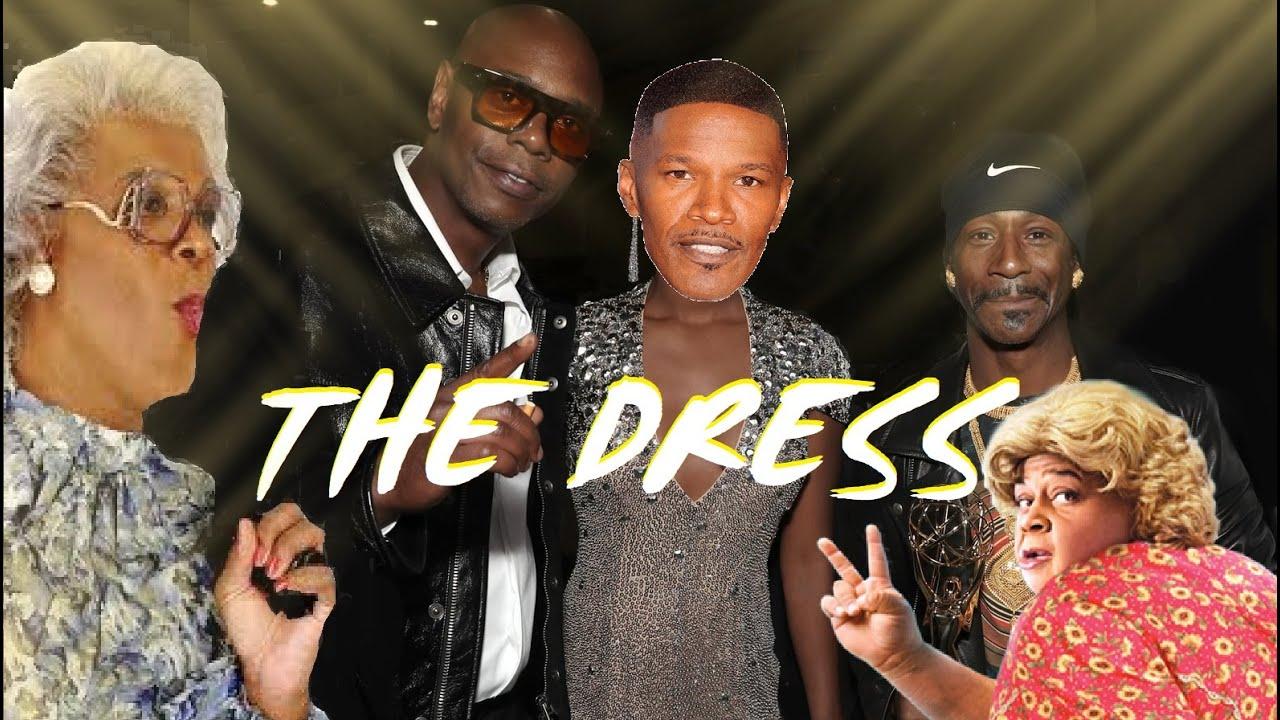 Black men wearing a dress in Hollywood is it a curse.