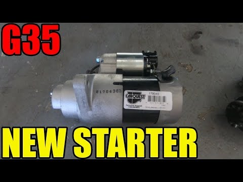 How To Replace a Starter in an Infiniti G35 or 350Z