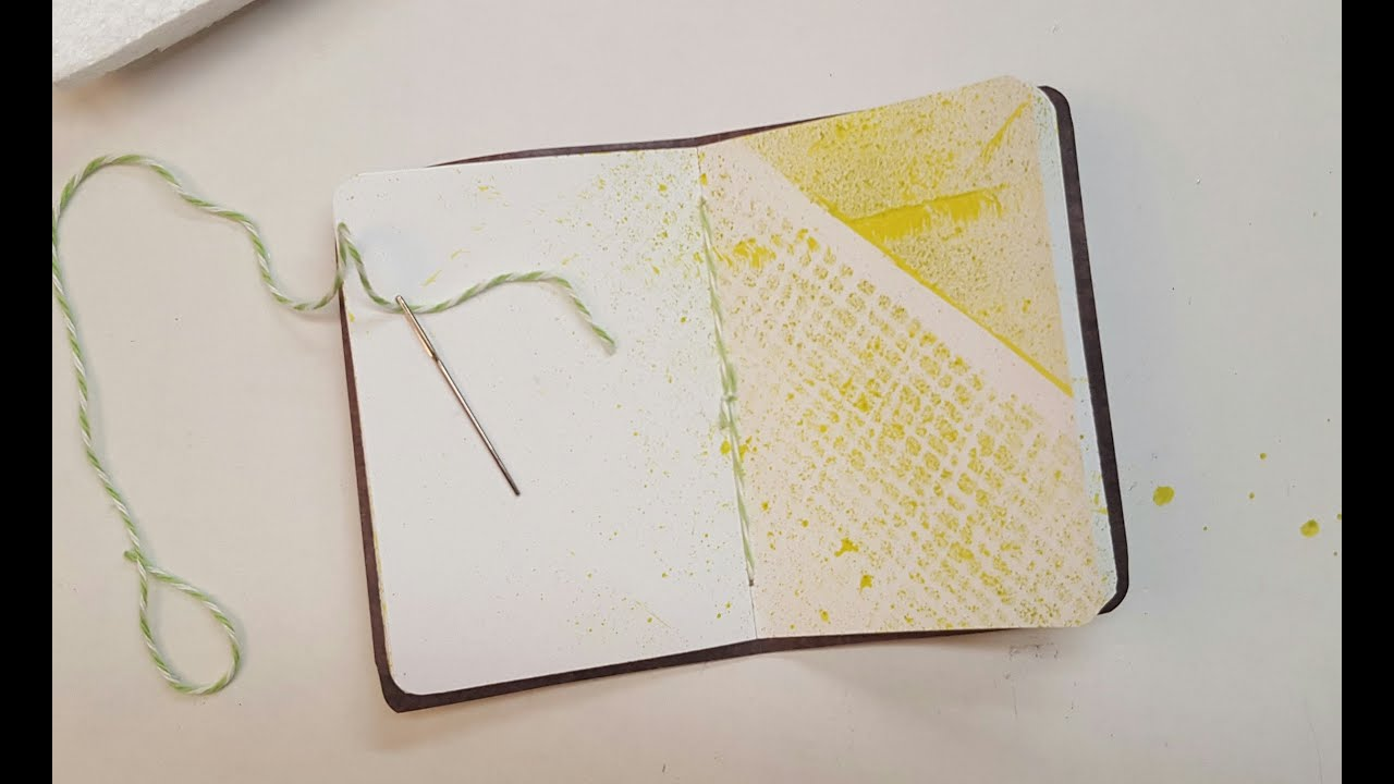 pamphlet stitching a notebook spine tutorial youtube