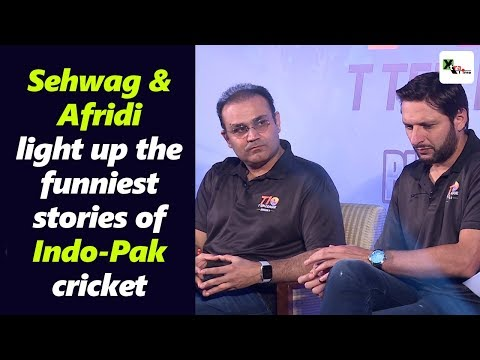 Super entertaining! Sehwag and Afridi light up the funniest stories of Indo-Pak cricket