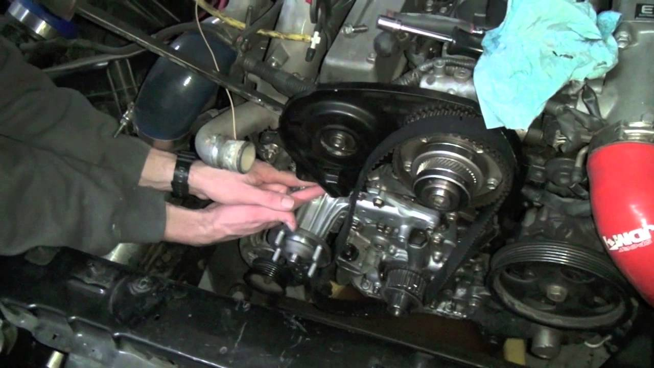 1jz water pump and timing belt youtube rh youtube com 1jz vvti timing belt replacement Honda Timing Marks Diagram