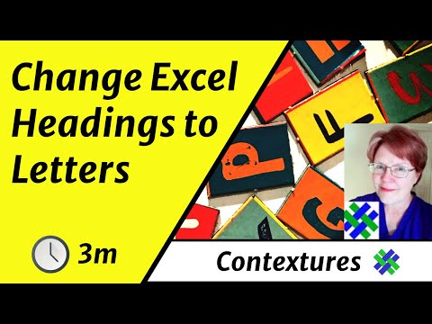 How to change excel column headings from numbers letters also youtube rh