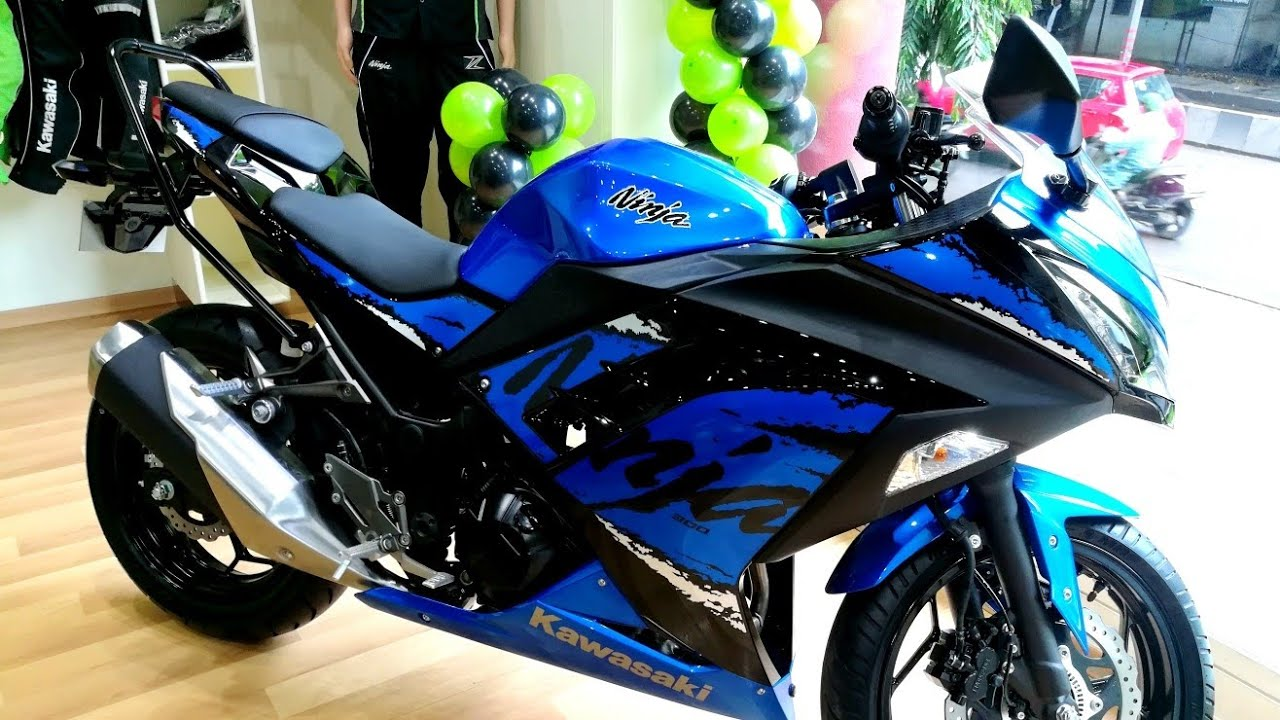 Kawasaki Ninja 300 Abs 2018 Blue Walk Around Youtube