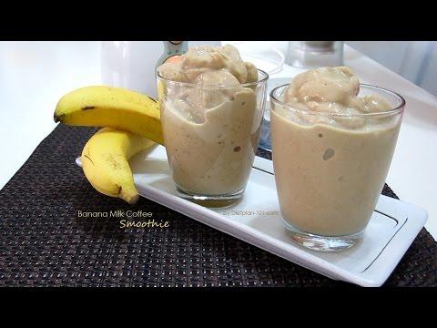 Banana Milk Coffee Smoothie | Dietplan-101.com