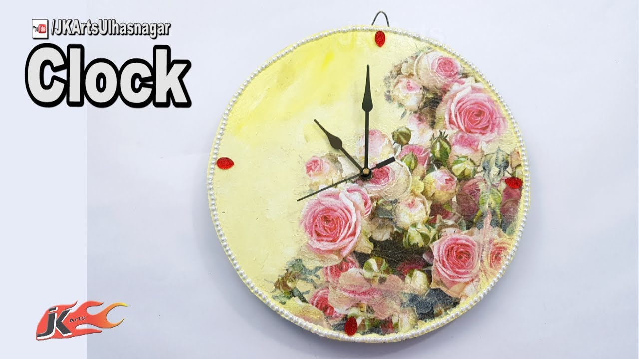 DIY Wall Clock in Decoupage Technique