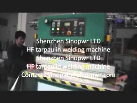 pvc coated fabric hf welding machine