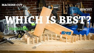 Which Joinery Technique is the Strongest? ft. Kreg & Festool Domino  | Hand Tool Shootout