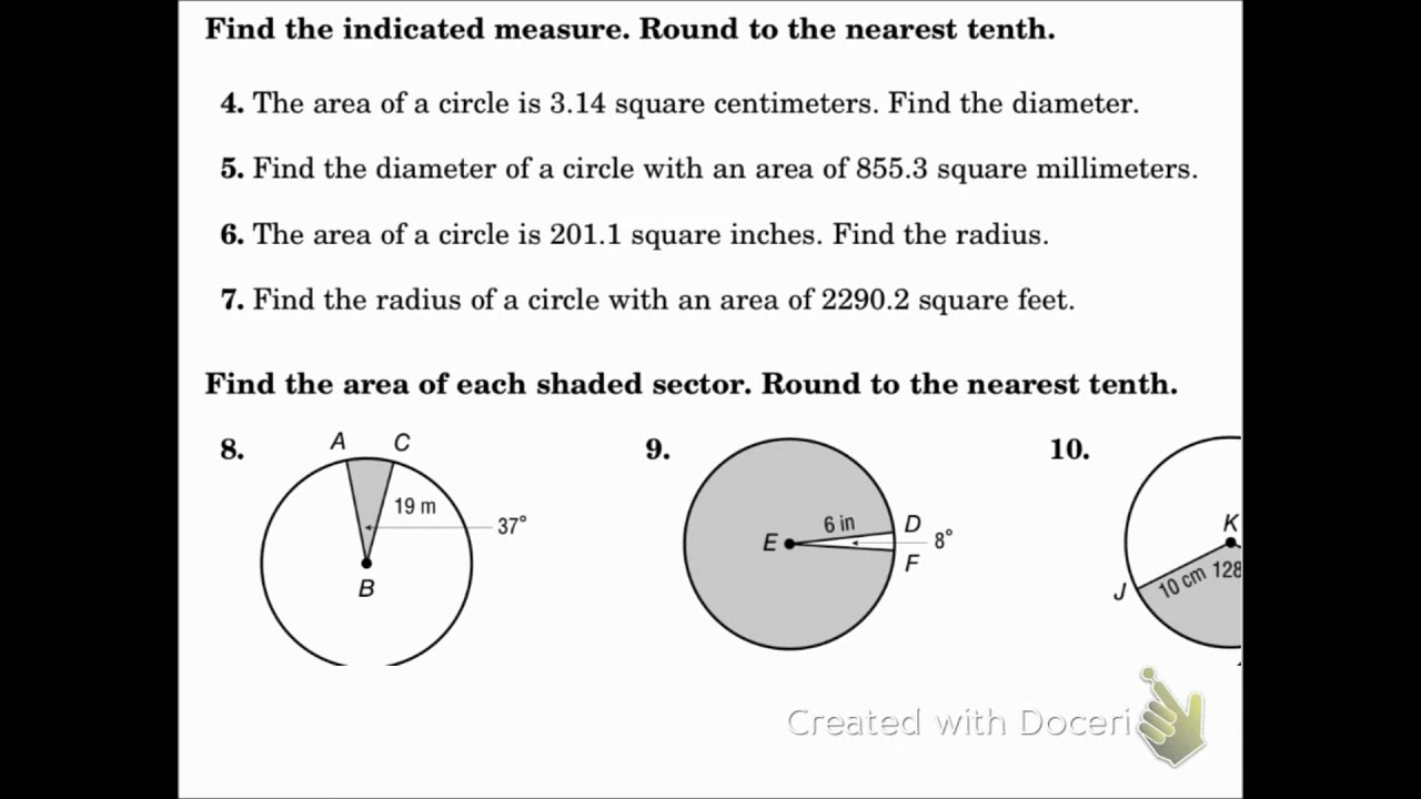 Geometry 11 3 Re S Of Circles Nd Sect S Youtube