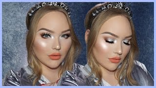 easy glowy silver holiday glam makeup tutorial